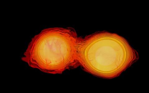 Tõenäoliselt tekkis kiirguspuhang kahe neutrontähe ühinemise tagajärjel.