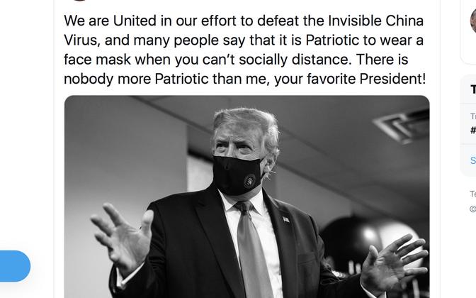 Donald Trumpi postitus Twitteris.