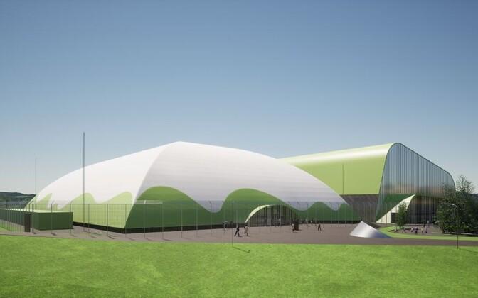 Эскиз футбольного комплекса в Тарту.