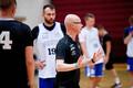 Eesti korvpallikoondise peatreener Jukka Toijala rahvusmeeskonna treeningul