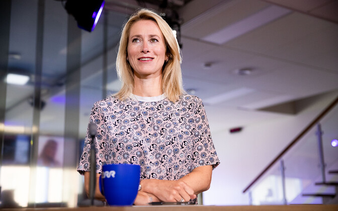 Reform's leader Kaja Kallas in the ERR news house recently.