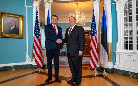 Урмас Рейнсалу и Майкл Помпео подтвердили демократическое партнерство.