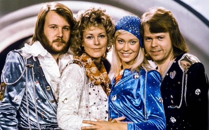 ABBA 1974. aastal pärast Eurovisiooni lauluvõistluse võitmist.