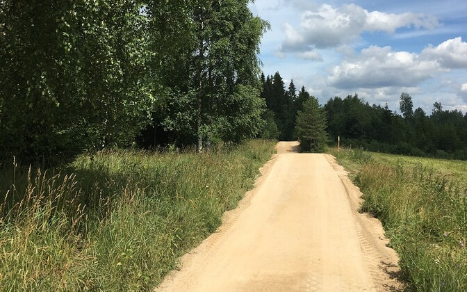 Rally Estonia 2020 Karste speed test new section of road waiting for so-called 'maturation'.