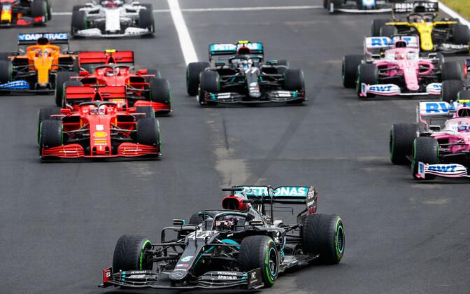 Ungaris sõideti tänavuse vormel-1 MM-sarja kolmas etapp