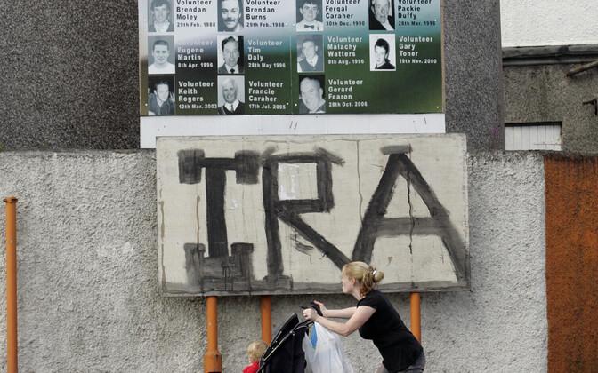 IRA graffiti Armagh's.