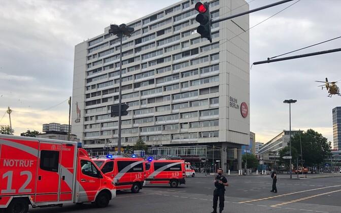 Scene of Sunday morning's incident in Berlin.