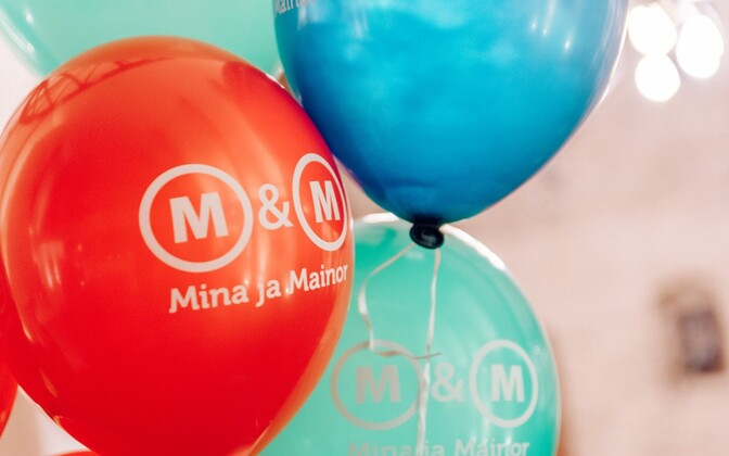Estonian Entrepreneurship University of Applied Sciences (Mainor college) promotional balloons.
