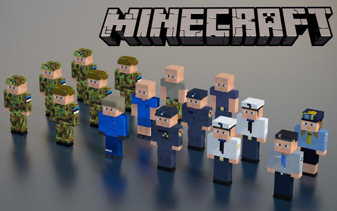 Estonian military uniforms in Minecraft.