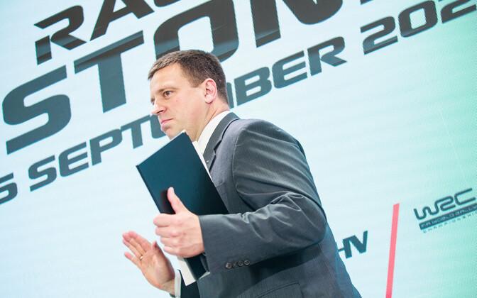 Jüri Ratas Rally Estonia pressikonverentsil