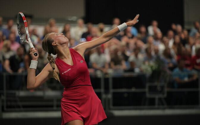 Tennise Eesti-Läti maavõistlus. Anett Kontaveit