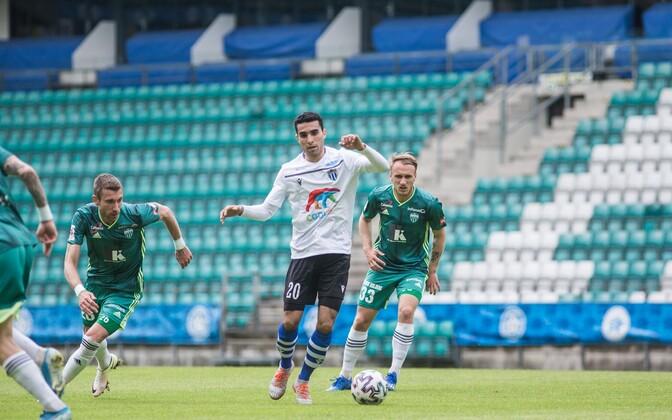 Selim El Aabchi esindamas Tallinna Kalevit mängus Tallinna FCI Levadia vastu