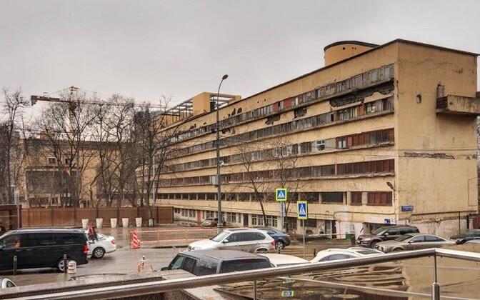 Narkomfini hoone Moskvas enne restaureerimist.