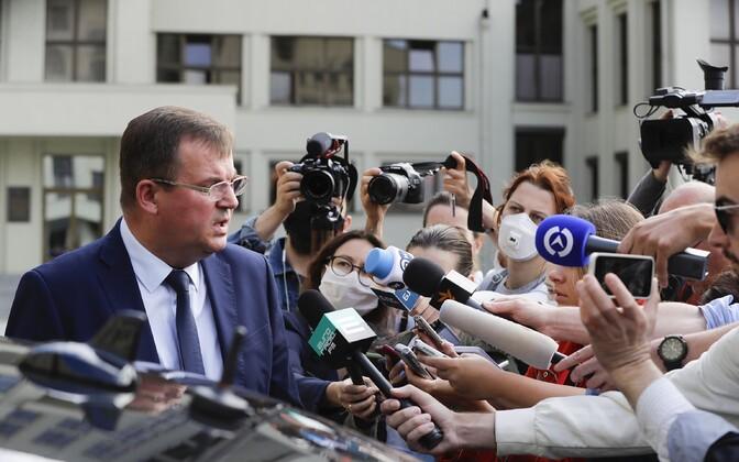 Valgevene julgeolekunõukogu juht Andrei Ravkov on peaminie infoallikas Vene palgasõdurite tabamise juhtumi valgustamisel.