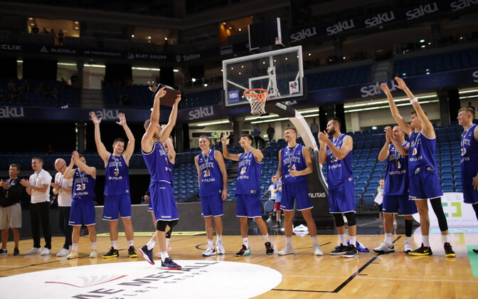 The Estonian men's national basketball team.