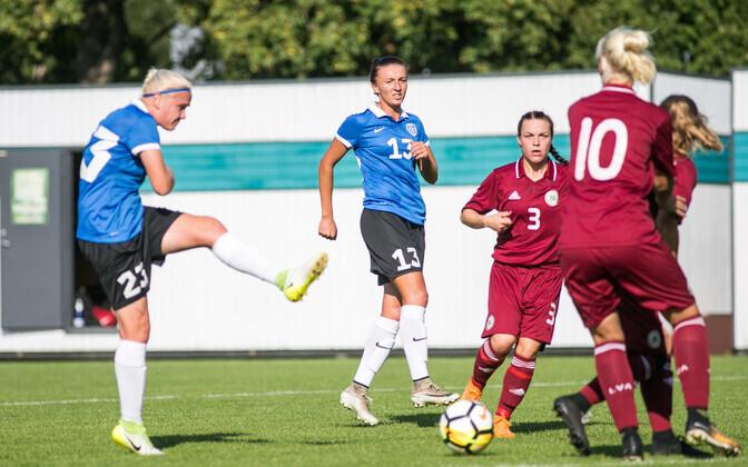 Naiste jalgpallikoondis võttis Lätiga viimati kodumurul mõõtu 2018. aastal Balti turniiril