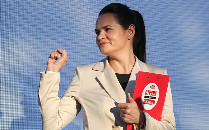 Valgevene opositsiooni presidendikandidaat Svetlana Tihhanovskaja.