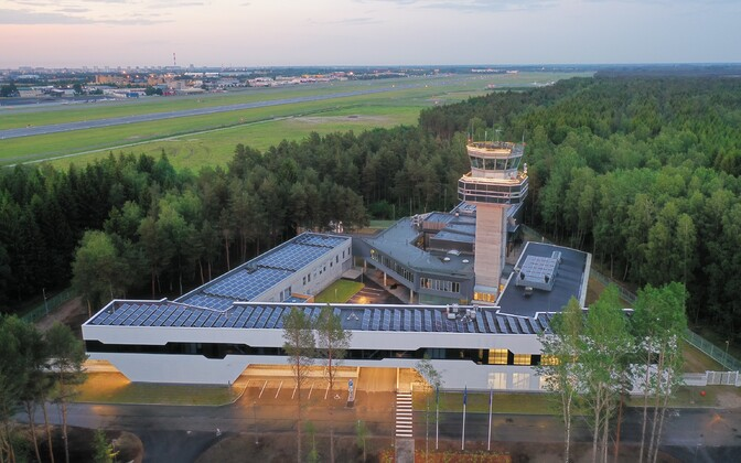 Air traffic control at Tallinn Airport.
