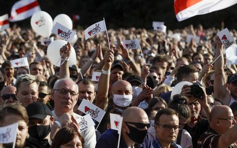 Митинг в поддержку Светланы Тихановской.