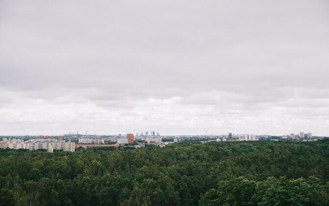 Rain clouds over Tallinn.