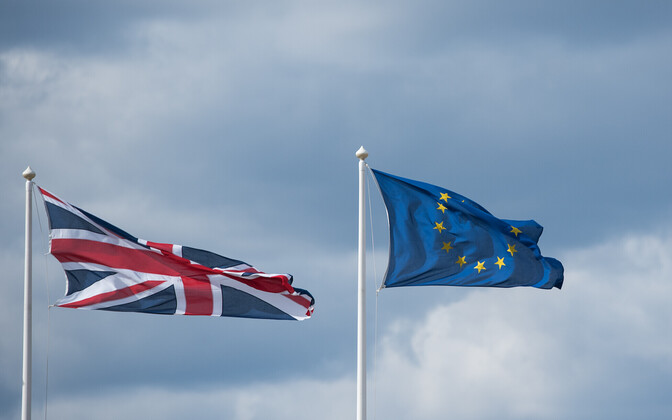 UK and EU flags.