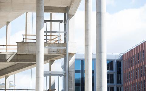 The under-construction Porto Franco development.
