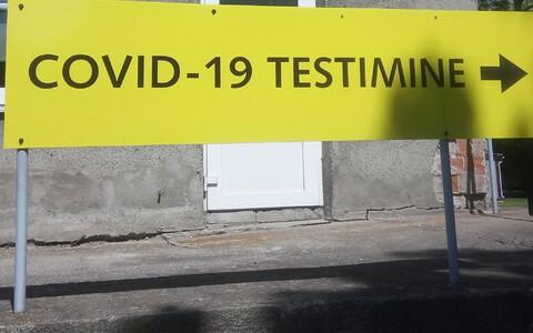Coronavirus testing sign.