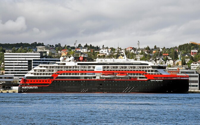 Kruiisilaev Roald Amundsen Norras Tromsø sadamas.