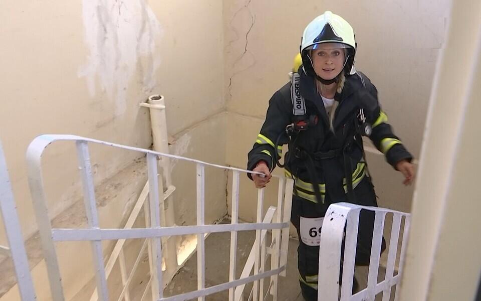 Любители бега состязались сегодня в скоростном подъеме по лестницам Таллиннской телевышки.
