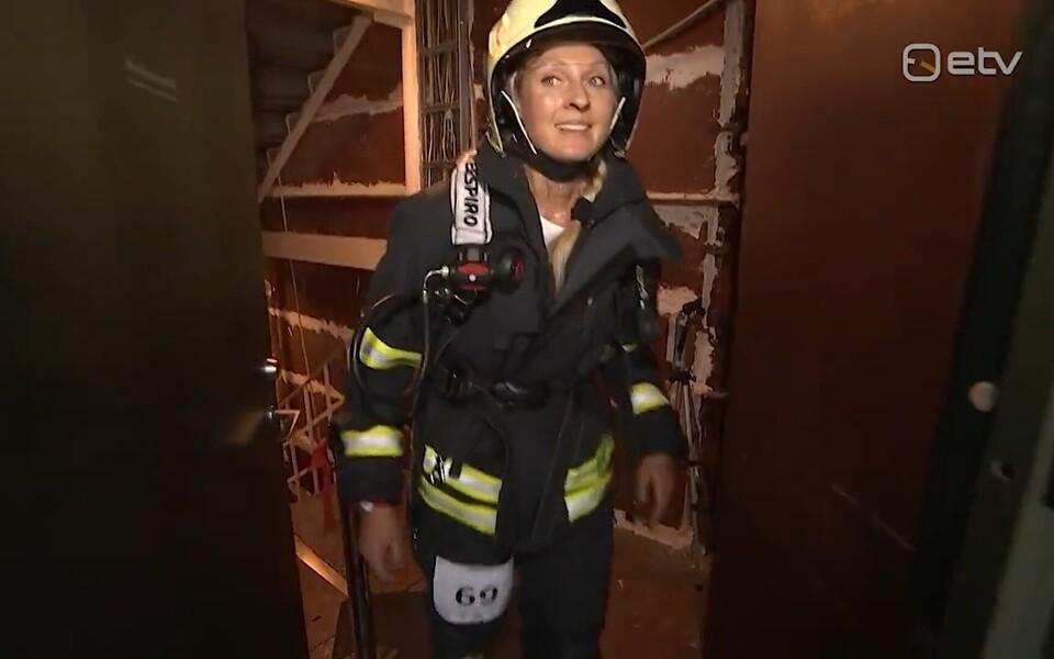 Renne Merilo tuletorni trepijooksul.