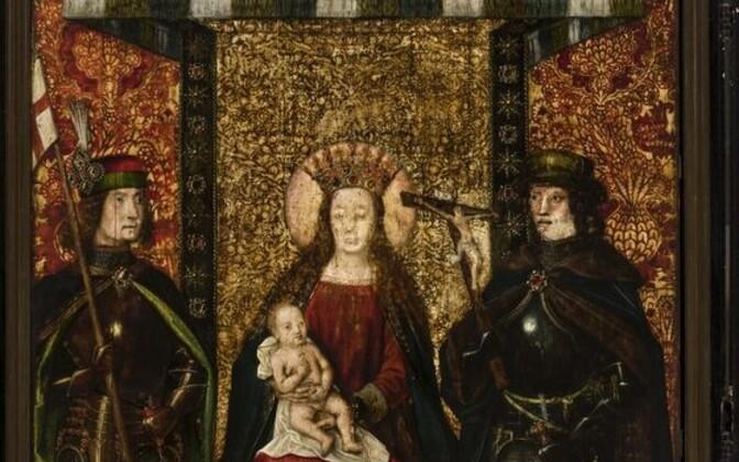 Brugge Püha Lucia legendi meister. Tallinna Mustpeade vennaskonna Maarja altari retaabel. Enne 1493. Detail. Eesti Kunstimuuseum