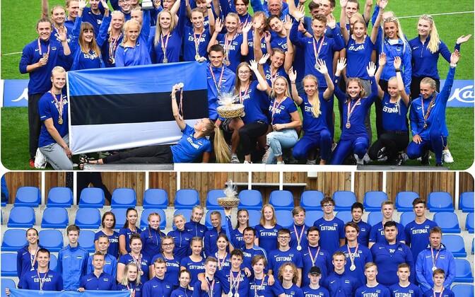 Eesti U-18 ja U-20 kergejõustikukoondised
