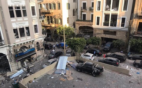 Aftermath of Tuesday's explosion in Beirut.