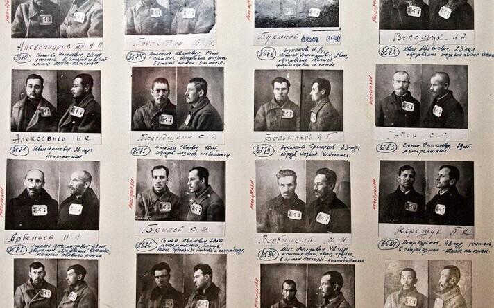 Solovetsi laagri vangide fotod ja põhiandmed.