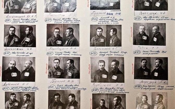 Фото и данные заключенных на Соловках.