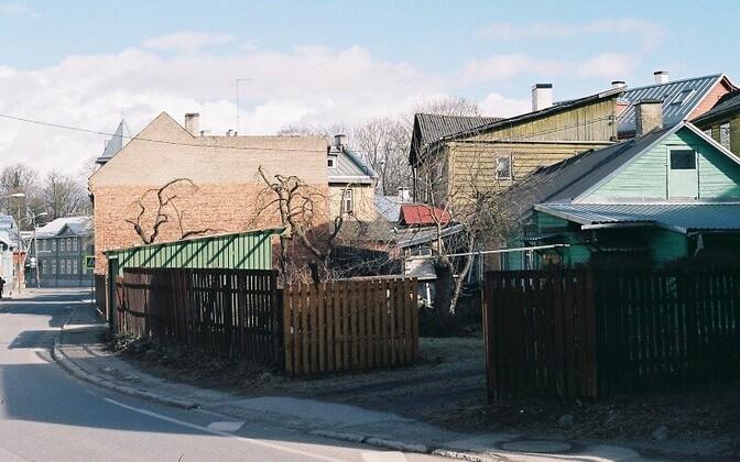 Kroonuaia tänav Supilinnas, kevad 2019.