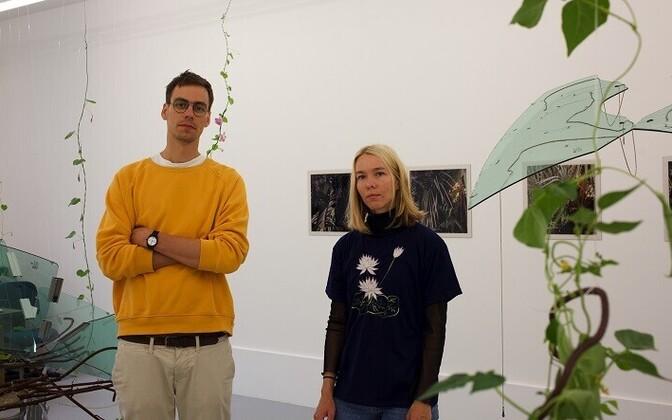 Mari-Leen Kiipli ja Paul Kuimet Kogo galeriis.