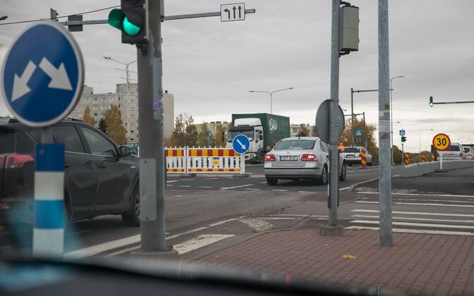 Перекресток улиц Мустакиви и Лаагна в Ласнамяэ.