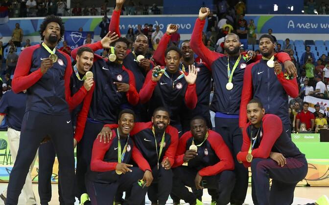 Rio olümpial kuldmedali võitnud USA korvpallikoondis