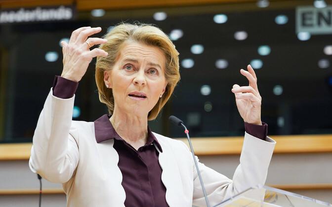 Euroopa Komisjoni president Ursula von der Leyen.