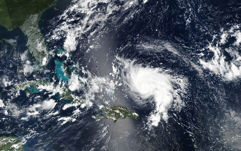 NASA foto orkaan Doriani lähenemist Florida poolsaarele möödunud aastal.