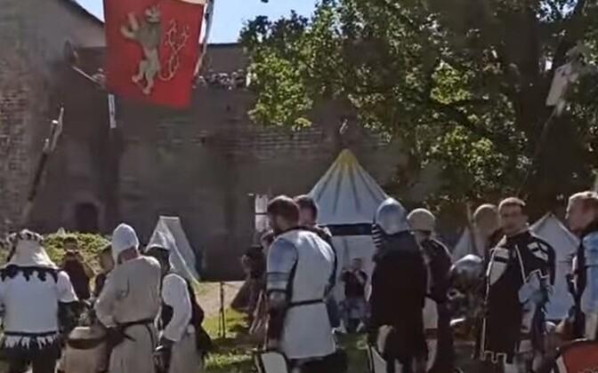 Рыцарский турнир в Ивангородской крепости.