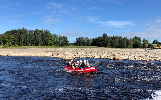 На реке Пярну снесли плотину Синди.