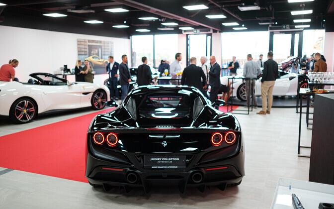 Ferrari showroom in Tallinn.