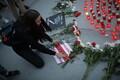 Акция поддержки белорусских протестов на площади Вабадузе.