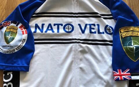 'NATO Velo' official cycling strip.