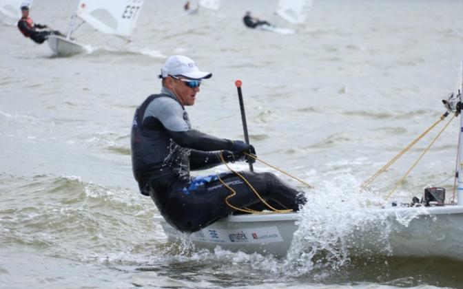Karl-Martin Rammo, purjetamise Eesti meistrivõistluste sarja liider Laser Standard klassis
