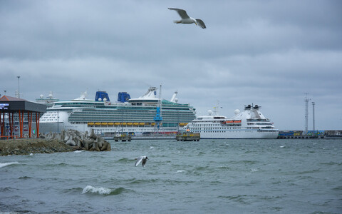 Cruise ships at the Port of Tallinn. No cruise ship carrying passengers berthed in Tallinn from April to June this year.