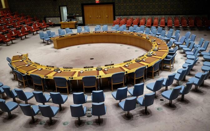 ÜRO Julgeolekunõukogu istungitesaal.