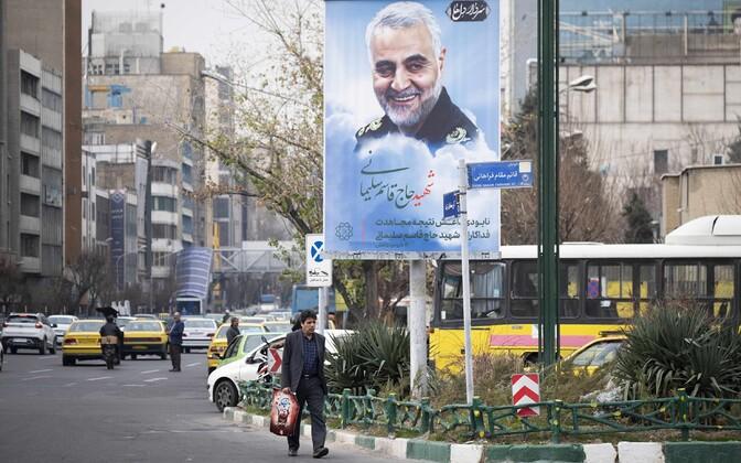 Портрет Касема Сулеймани на улицах Тегерана.